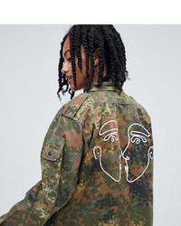 Veste militaire camouflage olive Reclaimed Vintage