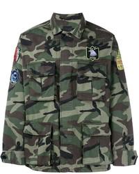 Veste militaire camouflage olive Saint Laurent