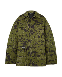 Veste militaire camouflage olive We11done