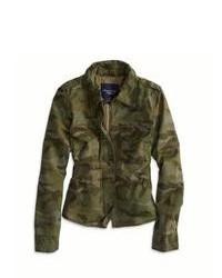 Veste militaire camouflage vert foncé