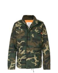 Veste militaire camouflage vert foncé Alpha Industries