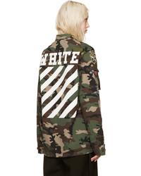 off white veste militaire femme