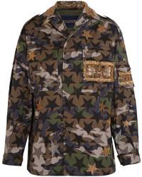 Veste militaire camouflage vert foncé Valentino