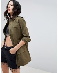 Veste militaire olive Missguided