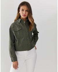 Veste militaire olive New Look