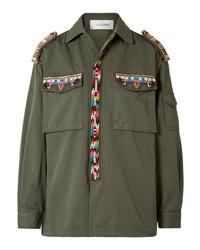 Veste militaire ornée olive Valentino