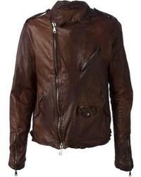 Veste motard brun original 8633817