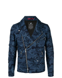Veste motard camouflage bleu marine Loveless
