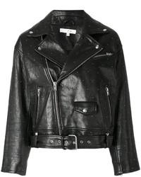 Veste motard en cuir à clous noire IRO