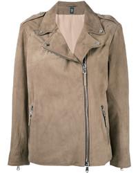 e743f45ff9 Acheter veste motard en cuir marron clair femmes: choisir vestes ...