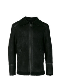 Veste motard en cuir noir Salvatore Santoro