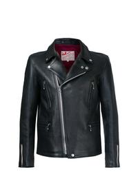Veste motard en cuir noire Addict Clothes Japan