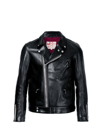 Veste motard en cuir noire Addict Clothes Japan