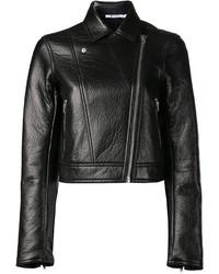 Veste motard en cuir noire Alexander Wang