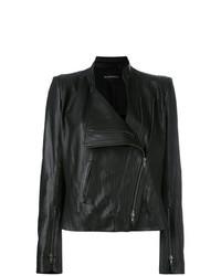 Veste motard en cuir noire Ann Demeulemeester