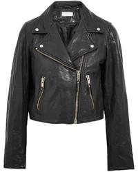 Veste motard en cuir noire Etoile Isabel Marant