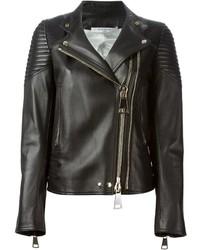 Veste motard en cuir noire Givenchy