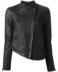 Veste motard en cuir noire Helmut Lang