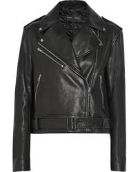 Veste motard en cuir noire Proenza Schouler