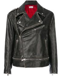 Veste motard en cuir noire RED Valentino
