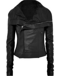 Veste motard en cuir noire Rick Owens
