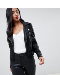 Veste motard en cuir noire Y.A.S Petite