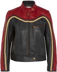 Veste motard en cuir rouge Chloé