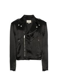 Veste motard noire Gucci