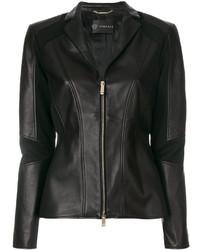 Veste motard noire Versace