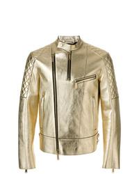 Veste motard ornée dorée DSQUARED2