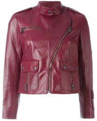 Veste motard rouge Marc Jacobs