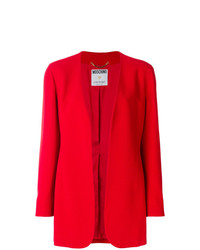 Veste ouverte rouge Moschino Vintage