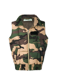 Veste sans manches camouflage multicolore Off-White