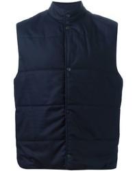 Veste sans manches en laine bleu marine Paul Smith