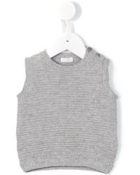 Veste sans manches en laine grise Il Gufo
