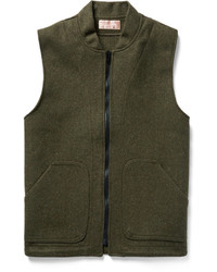 Veste sans manches en laine olive