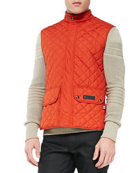 Veste sans manches matelassée orange