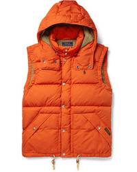 Veste sans manches matelassée orange Polo Ralph Lauren