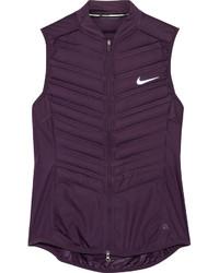 Veste sans manches matelassée pourpre foncé Nike