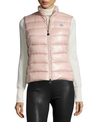 Veste sans manches matelassée rose