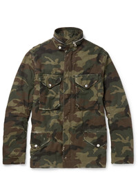 Veste style militaire camouflage olive