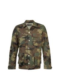 Veste style militaire camouflage olive Amiri