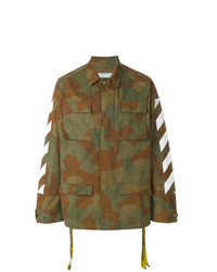 Veste style militaire camouflage olive Off-White