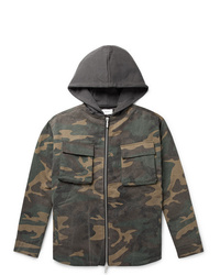 Veste style militaire camouflage olive Rhude