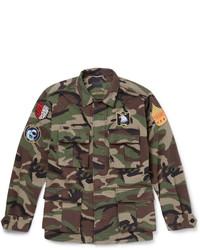 Veste style militaire camouflage verte