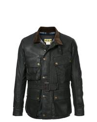 Veste style militaire en cuir noire Addict Clothes Japan