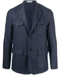 Veste style militaire en laine bleu marine Boglioli