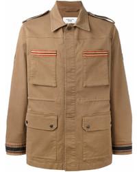 Veste style militaire marron clair