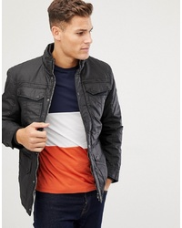 Veste style militaire noire Burton Menswear