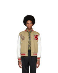 Veste universitaire beige Burberry